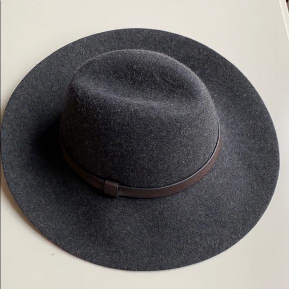 J.Crew Gray Felt Fedora Hat